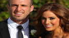 El jugador de fútbol australiano Chris Judd y Rebecca Twigley se casan por sorpresa