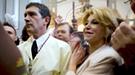 Antonio Banderas vive la Semana Santa con Melanie Griffith y la baronesa Carmen Thyssen