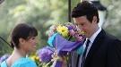 Leo Michelle y Cory Monteith, dos tortolitos por Central Park en el rodaje de 'Glee'