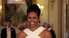 Michelle Obama deslumbra en Buckingham sin la presencia de Kate Middleton