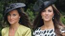 Kate y Pippa Middleton derrochan glamour en la boda de un amigo común