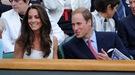 El Príncipe Guillermo y Kate Middleton se relajan viendo a Murray en Wimbledon