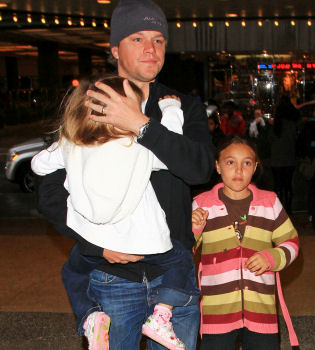 Matt Damon espera su cuarto hijo