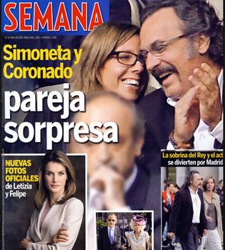 José Coronado y Simoneta Gómez-Acebo pillados en el fútbol