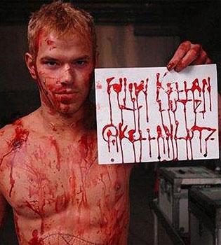 Sangre de Kellan Lutz en Twitter