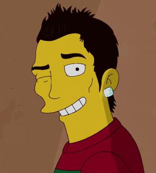 Cristiano Ronaldo cambia el Real Madrid por Los Simpsons