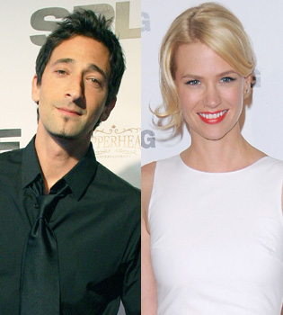 Adrien Brody cambia Elsa Pataky por January Jones de 'Mad Men'