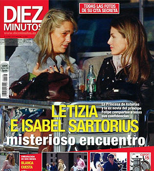 Encuentro con morbo: Princesa Letizia e Isabel Sartorius