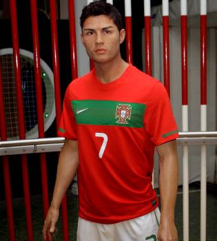 Cristiano Ronaldo se queda... de cera