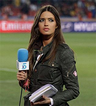 Telecinco y Sara Carbonero en la Final del Mundial entre España y Holanda