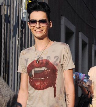 Bill Kaulitz, de Tokio Hotel, excesivamente delgado en un programa italiano