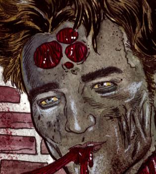 Robert Pattinson y Lady Gaga se transforman en sangrientos zombies