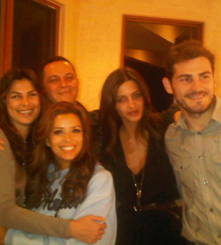 Sara Carbonero e Íker Casillas, de cena con Eva Longoria y Alejandro Sanz