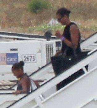 Michelle Obama y su hija llegan a España