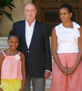 Michelle Obama y su hija visitan a la Familia Real en Mallorca