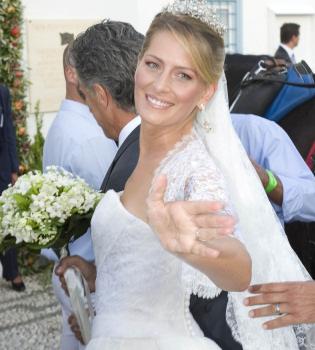 Desvelado el secreto del vestido de novia de Tatiana Blatnik