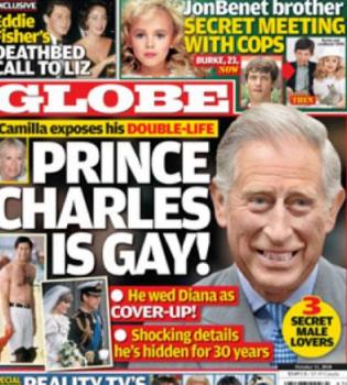 Una revista señala al Príncipe Carlos de Inglaterra de homosexual