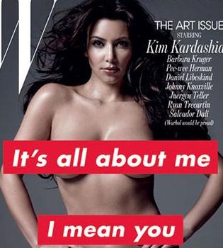 Kim Kardashian y su impactante desnudo en la revista 'W'
