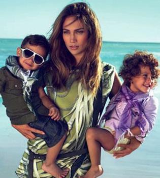 Los mellizos de Jenifer López protagonizan su primera campaña publicitaria