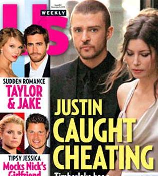 Justin Timberlake, pillado siendo infiel a Jessica Biel