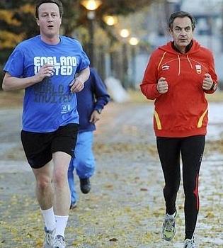 Zapatero y David Cameron quedan para hacer footing juntos