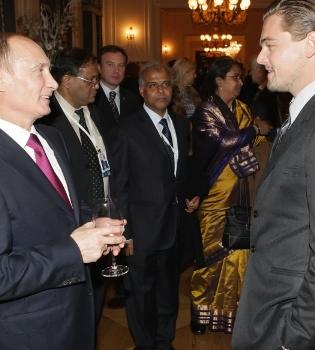 Leonardo DiCaprio se reúne con Putin y dona un millón de dólares para salvar al tigre
