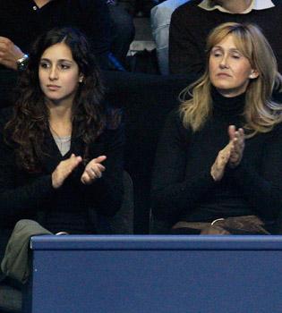 Rafa Nadal, apoyado por su novia Xisca para vencer a Federer