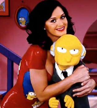 Katy Perry celebra la Navidad con 'Los Simpsons'