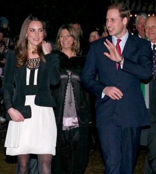 Kate Middleton y Guillermo de Inglaterra, con los niños enfermos por Navidad