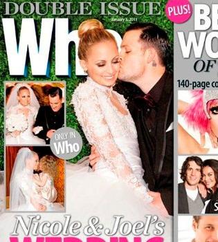 La pomposa boda de Nicole Richie y Joel Madden ya está en las revistas