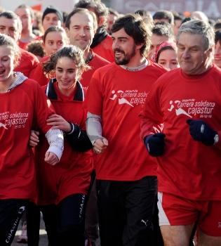 Fernando Alonso encabeza una carrera solidaria a favor de UNICEF