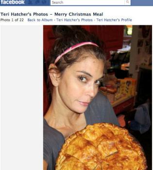 Teri Hatcher muestra en Facebook sus platos de Navidad
