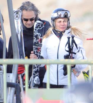 Belén Rueda y Roger Vincent, primeras navidades juntos en la nieve