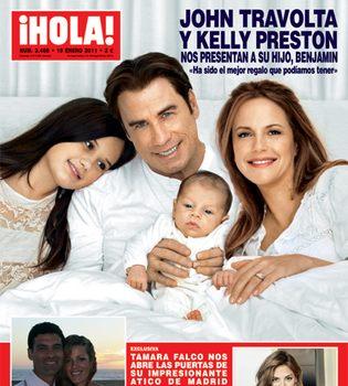 John Travolta y Kelly Preston presentan a su hijo Benjamin