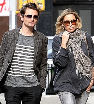 El vocalista de Muse, Matt Bellamy y la actriz Kate Hudson esperan un hijo