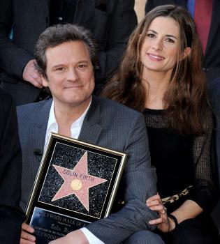 Colin Firth ya presume de estrella en el paseo de la fama de Hollywood