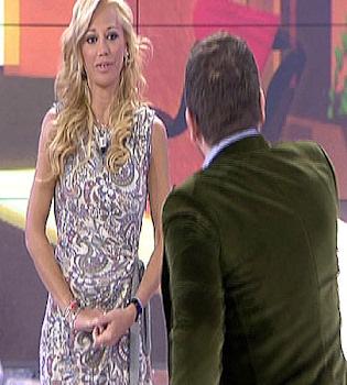 Belén Esteban regresa a 'Sálvame' sin aclarar su posible embarazo