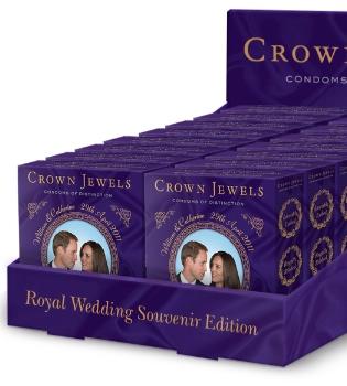 El mejor 'souvenir' de Reino Unido: condones del Príncipe Guillermo y Kate Middleton