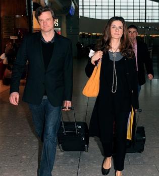 Colin Firth pone rumbo a Los Ángeles en busca del Oscar 2011