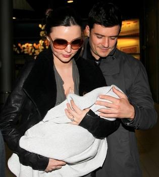 Orlando Bloom, volcado con Miranda Kerr y su hijo Flynn