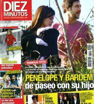 Penélope Cruz y Javier Bardem, de paseo con su hijo Leo