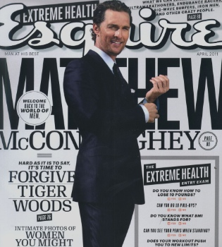 Matthew McConaughey, un papá sexy y orgulloso en la portada de 'Esquire'