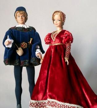 Barbie y Ken se convierten en los Príncipes de Gales en el Museo de la Muñeca