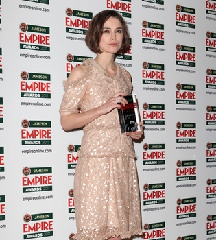 Keira Knightley y Colin Firth, premiados en los Empire
