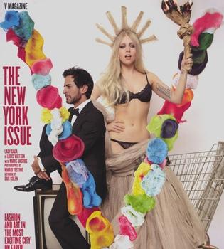 Lady Gaga, columnista de moda