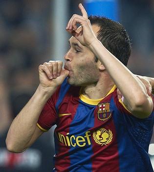 Andrés Iniesta dedica su gol ante el Shakhtar a su hija Valeria