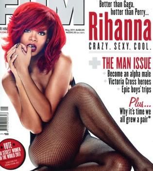 Rihanna, polémica portada de 'FHM' que podría picar a Lady Gaga y a Katy Perry