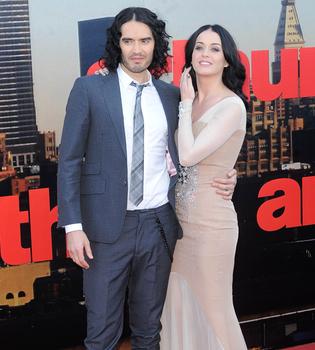 Estreno de 'Arthur': la felicidad de Katy Perry y Russell Brand
