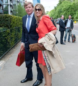 Máxima y Guillermo de Holanda aterrizan en Londres