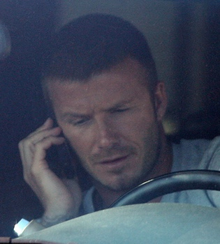 David Beckham y su hijo Brooklyn sufren un accidente de coche en Los Ángeles